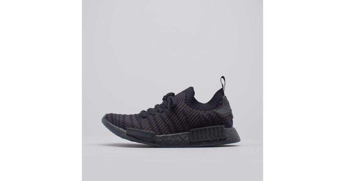 Lyst Adidas Nmd R1 Stlt Primeknit In Triple Black In Black For Men
