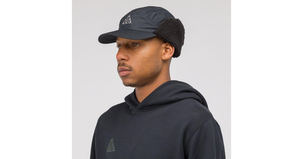 71df4615cceac Nike Acg Tailwind Sherpa Hat In Black in Black for Men - Lyst