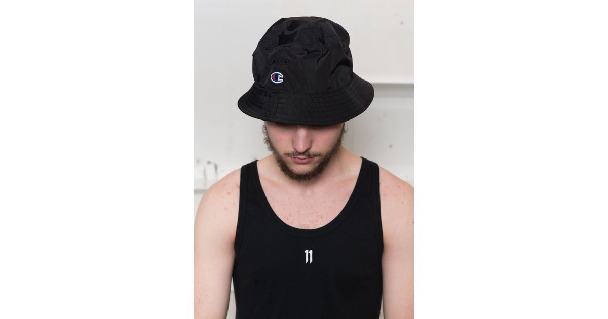 390e7d87ea3b7 Champion X Beams  Packable Bucket Hat in Black for Men - Lyst