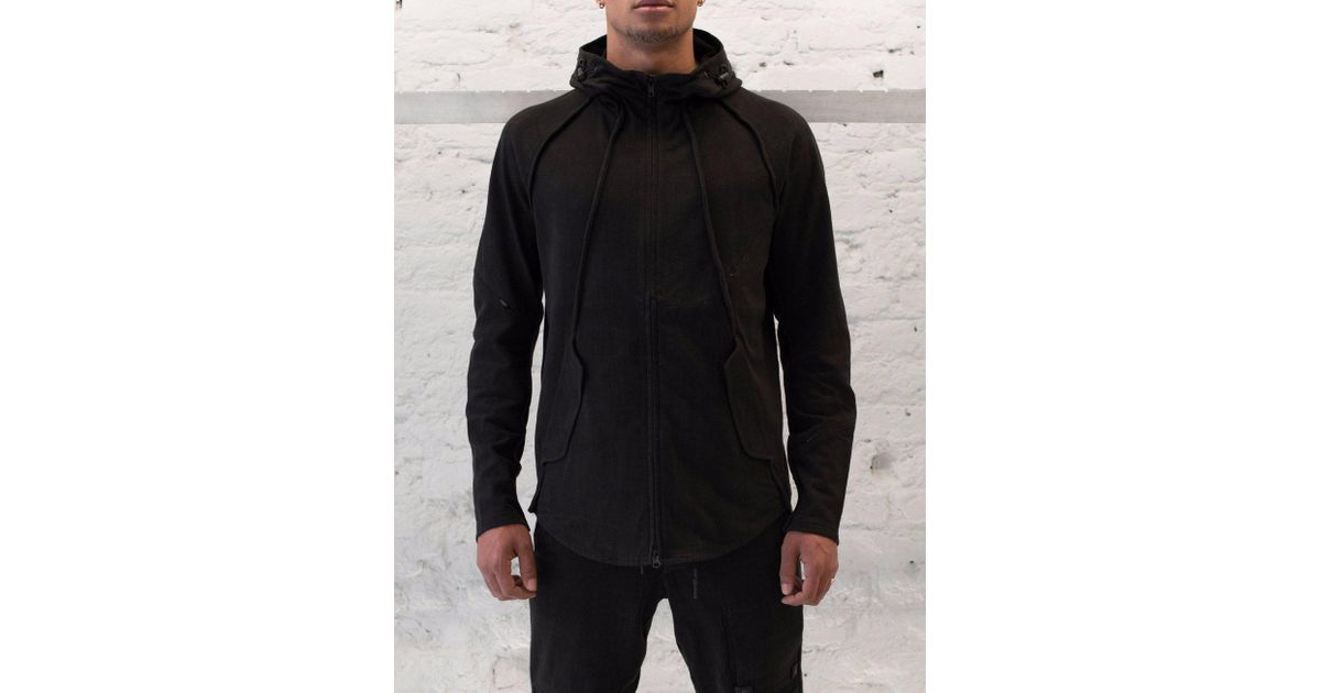 lyst y 3 vintage hooded jacket in black for men