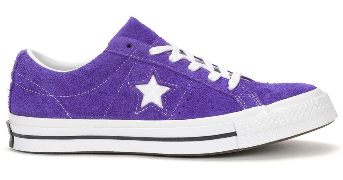 b115ff9d3bc purchase converse purple one star junior sneakers c3770 938e0  cheapest  lyst converse one star ox in purple fa3a4 49763