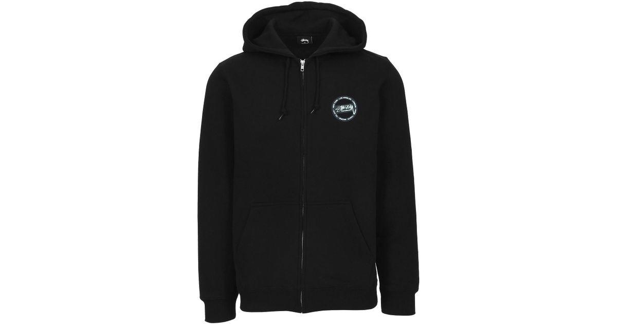 cc7098e40556 Lyst - Stussy International Dot Zip Hood in Black for Men