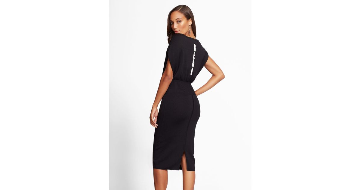 6b43b42af7 New York   Company Gabrielle Union Collection -  real  Corset Sweater Dress  in Black - Lyst