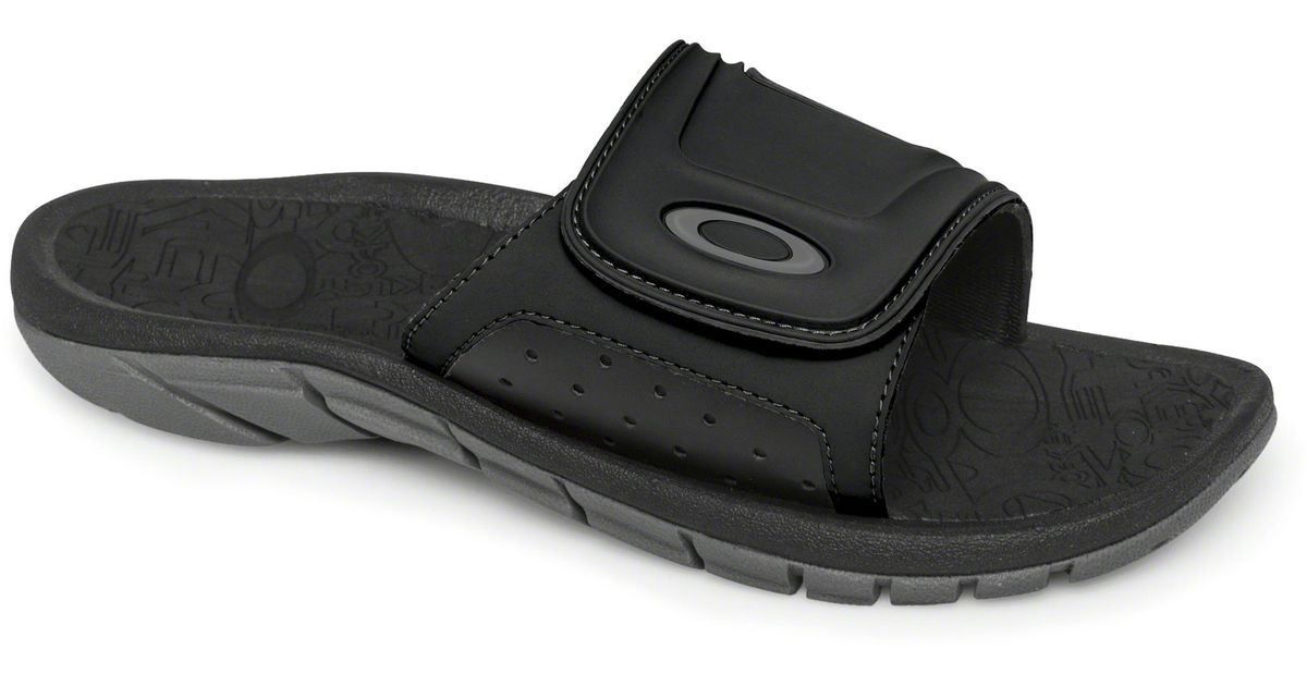 fcd02d304621 Lyst - Oakley Supercoil Slide Sandals in Black for Men