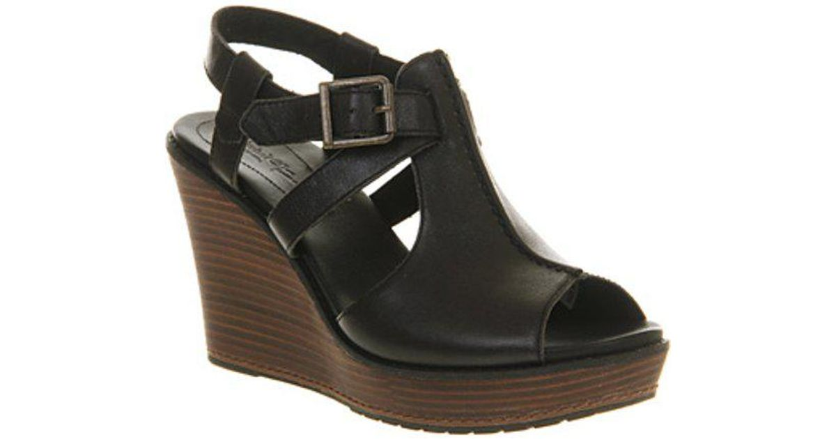 b231cae2aef Timberland Ek Danforth Ankle Strap Wedge in Black - Lyst