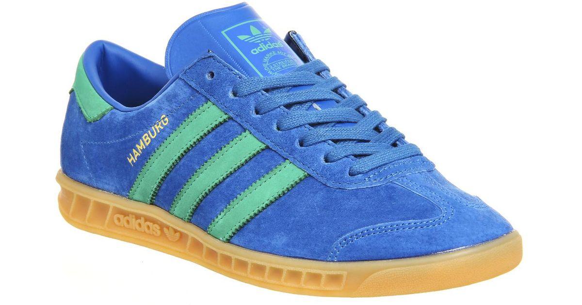 best website 8f89a 20907 adidas Originals Hamburg in Blue for Men - Lyst