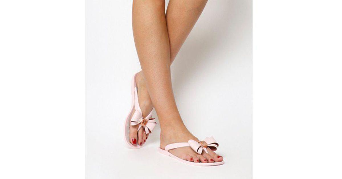 10d0474828dec3 Ted Baker Rueday Flip Flop in Pink - Lyst