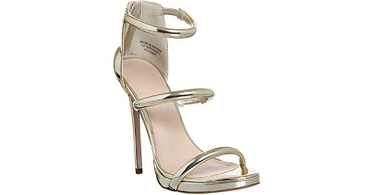 98aba042d94 Lyst - Office Nectar 3 Strap Platform Sandal E in Metallic