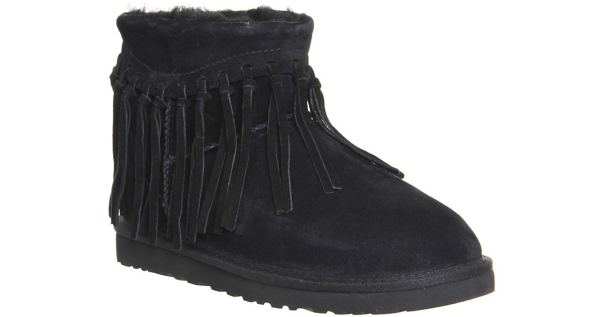 098c05affce Ugg Black Wynona Fringe Boots