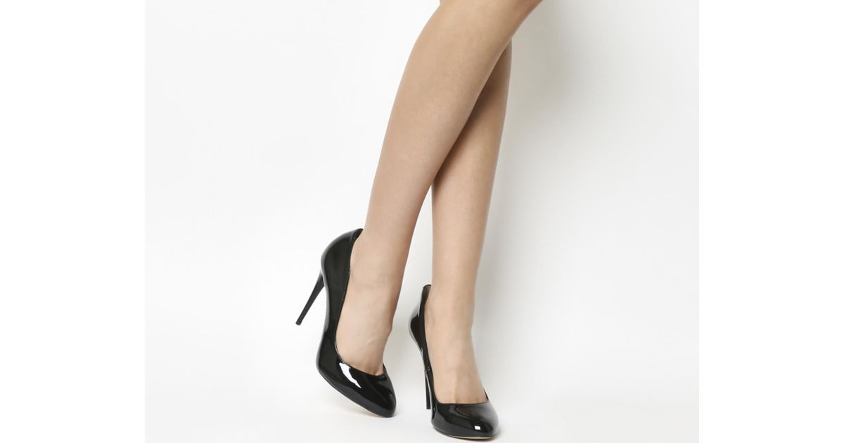 72015a6fdb Lyst - Office Ace Round Toe Court Shoe in Black