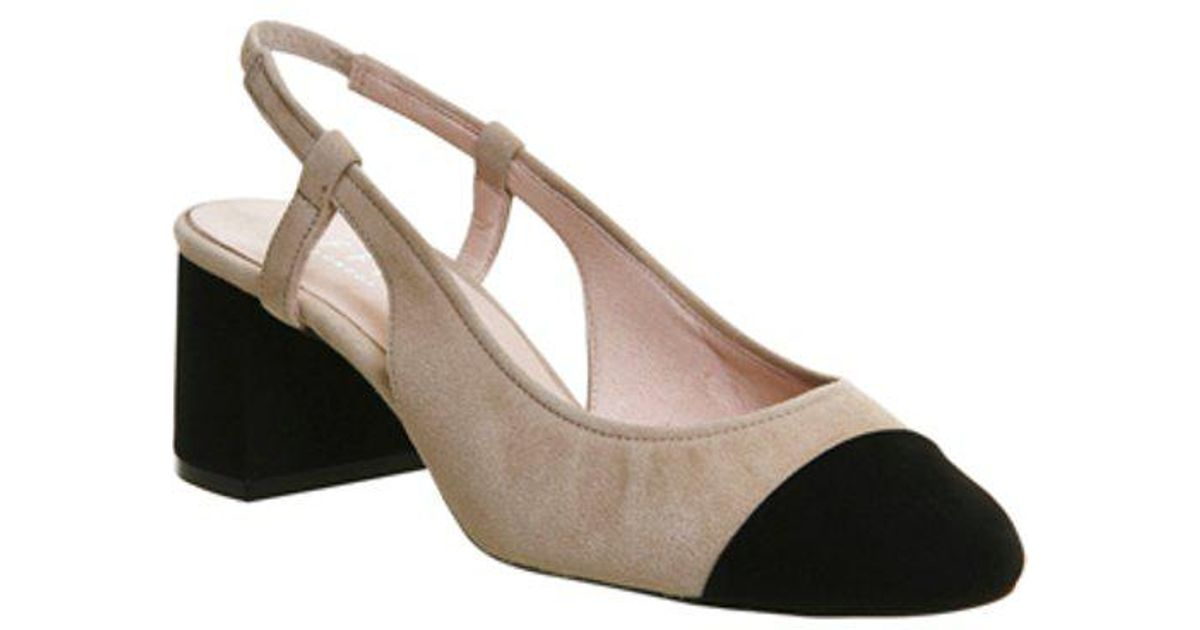 1e4eede5def Lyst - Office Maddie Slingback Toe Cap Block Heels in Black