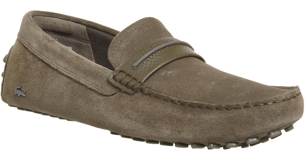 653bdbc0d Lyst - Lacoste Herron Loafers in Brown for Men