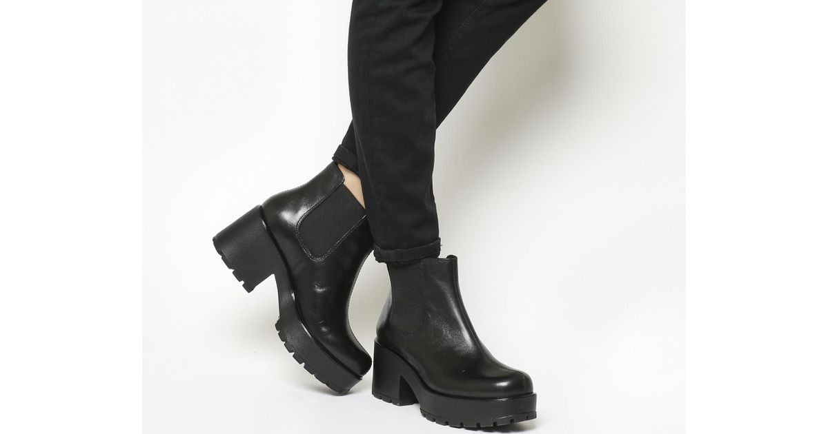 d7bc30e4b9d7 Vagabond Dioon Chunky Leather Chelsea Boots in Black - Save 22% - Lyst
