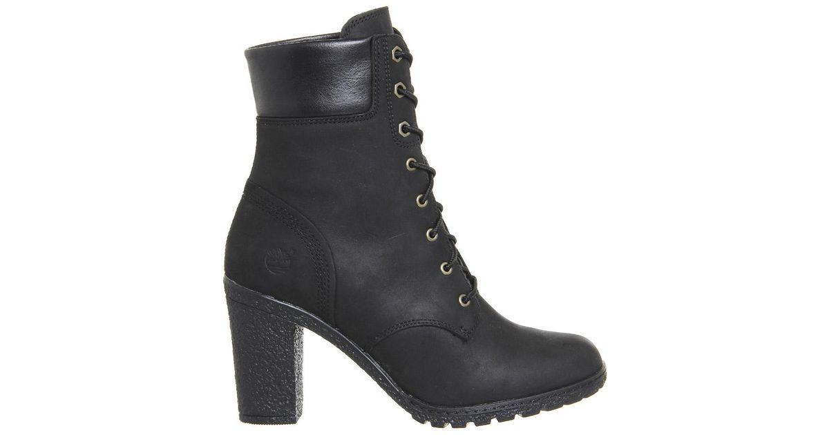 36c21d70d1e45 Timberland Glancy 6 Inch Heel Boots in Black - Lyst