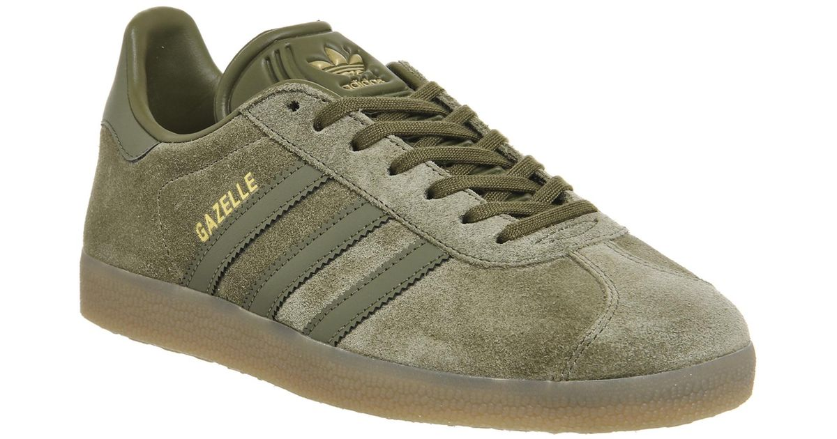 Lyst - adidas Gazelle Olive Shoe Bb5265 in Green for Men 118a3ae3bd64