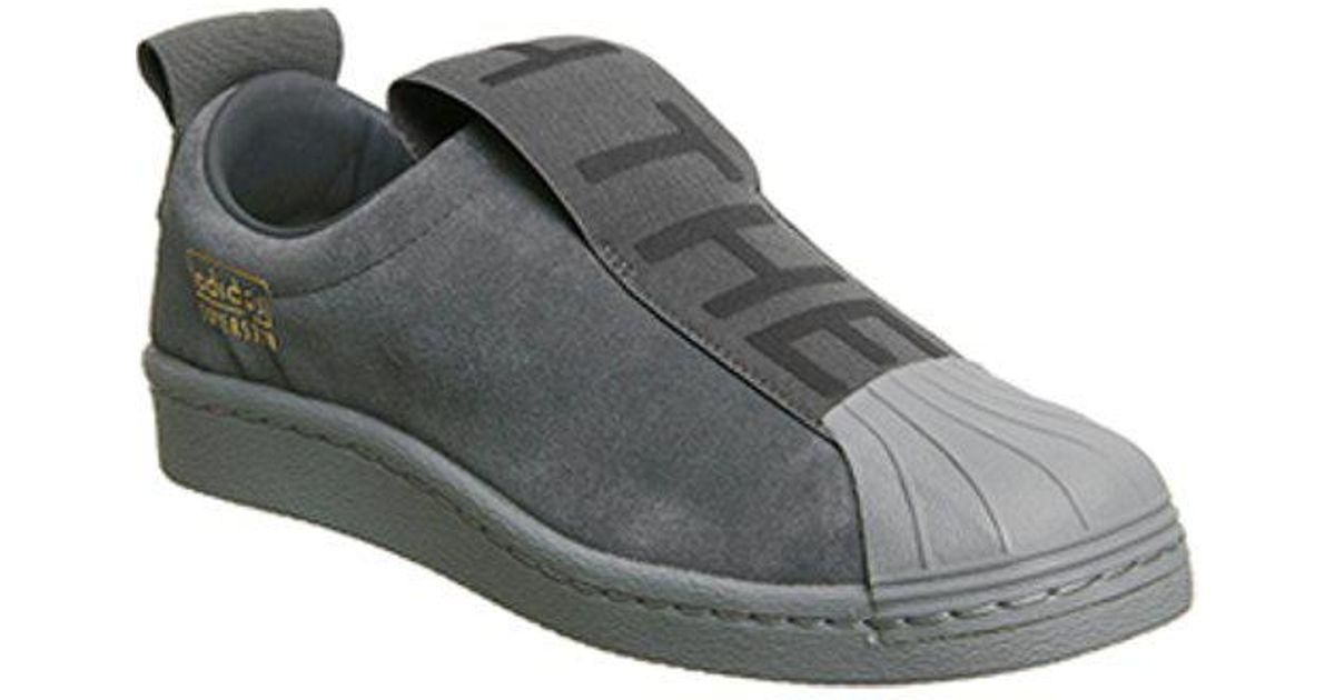 Super Star Bw35 Suede Slip-on Sneakers - Dark gray adidas Originals oHq64qL7