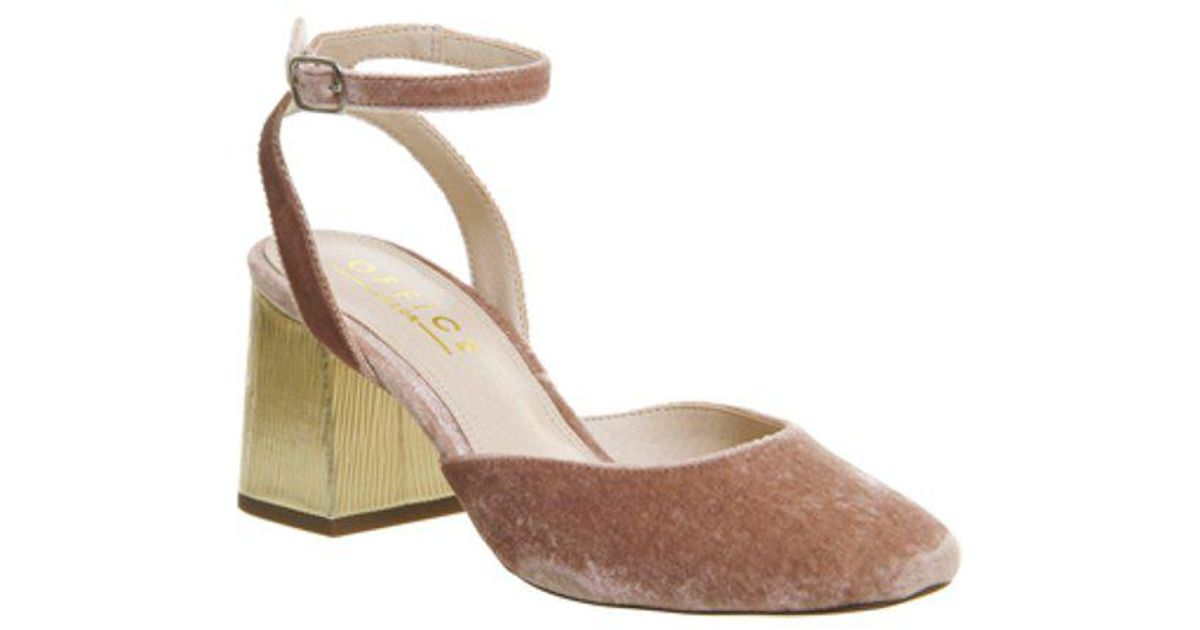 e356246d5f5 Office Mona Two Part Block Heel in Pink - Lyst