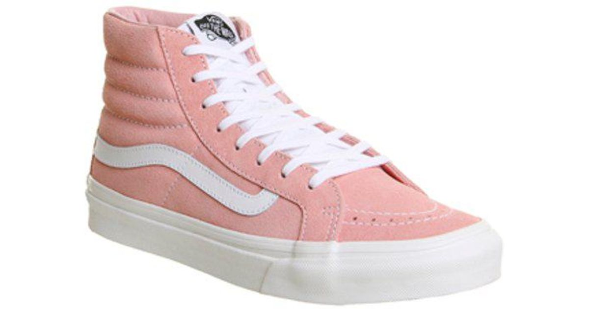 a7140574d09d5 Lyst - Vans Sk8 Hi Slim in Pink