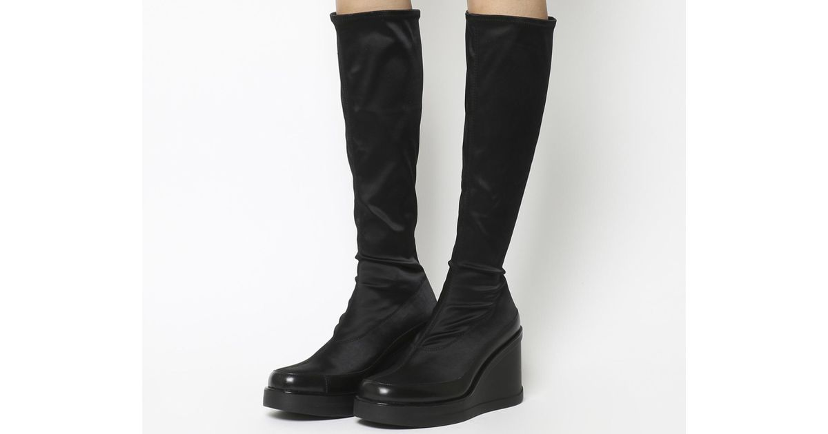 f0ca668754e Vagabond Lorene Stretch Knee Boots in Black - Lyst