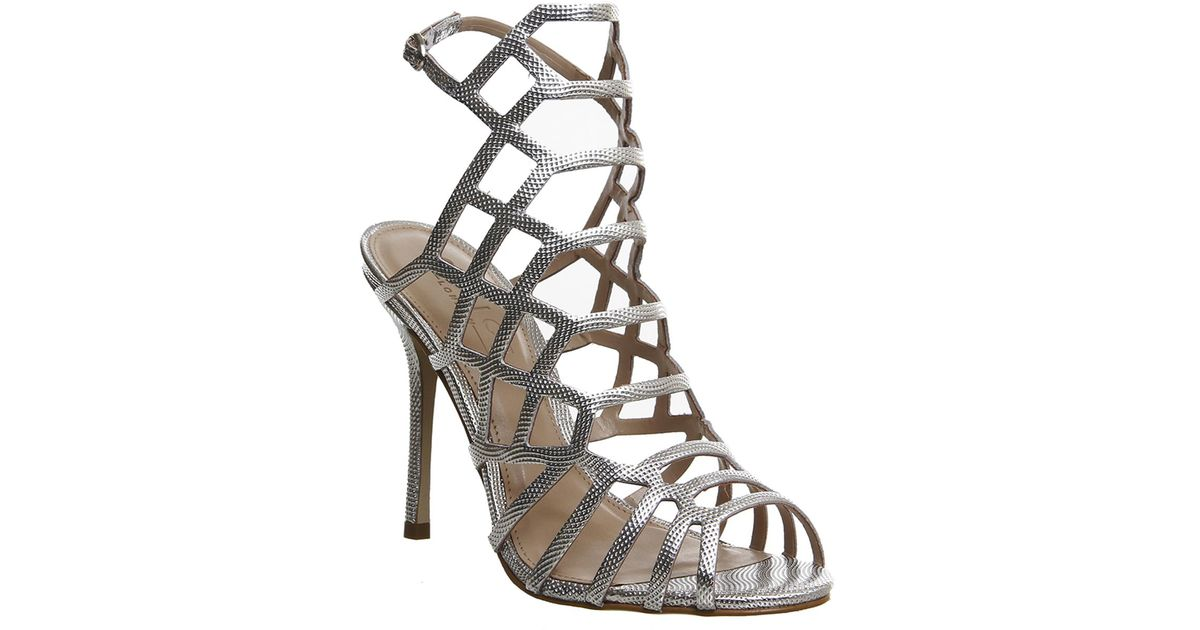 4efee68a032 Office Trance Caged Heels in Metallic - Lyst
