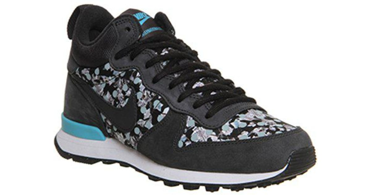 huge selection of 33a79 9e085 Nike Internationalist Mid in Black - Lyst