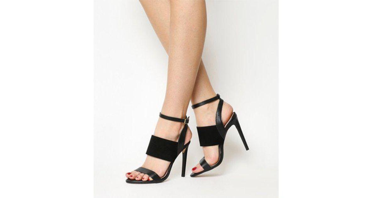 6025025d5b1 Lyst - Office Anchor 3 Strap Single Sole Sandal in Black