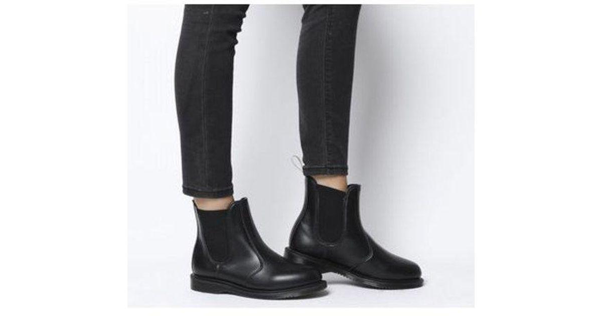 schöne Schuhe abwechslungsreiche neueste Designs Freiraum suchen Dr. Martens - Black Vegan Flora Chelsea Boot - Lyst
