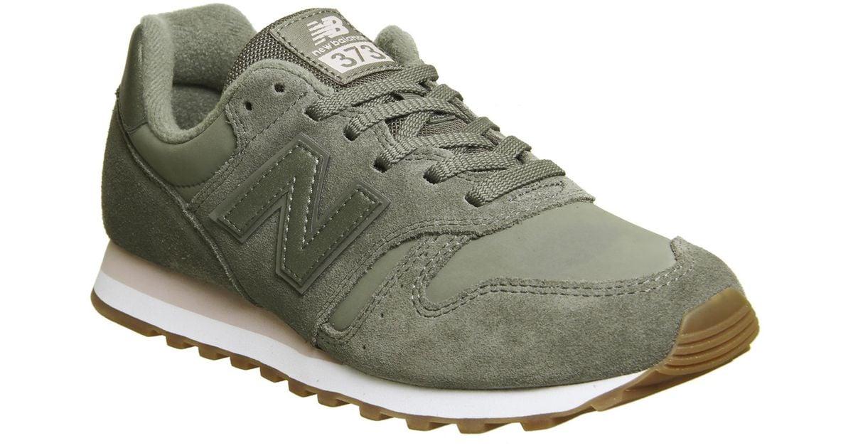 new balance 373 grey green