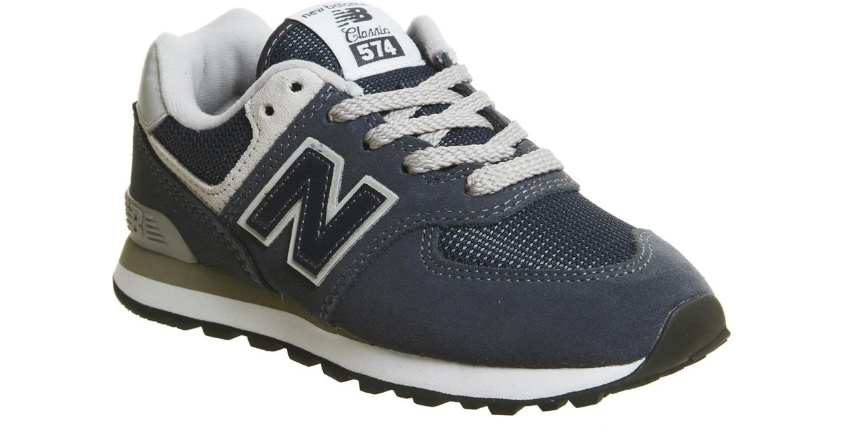 new style 07eb1 6741f New Balance - Blue 574 Kids for Men - Lyst