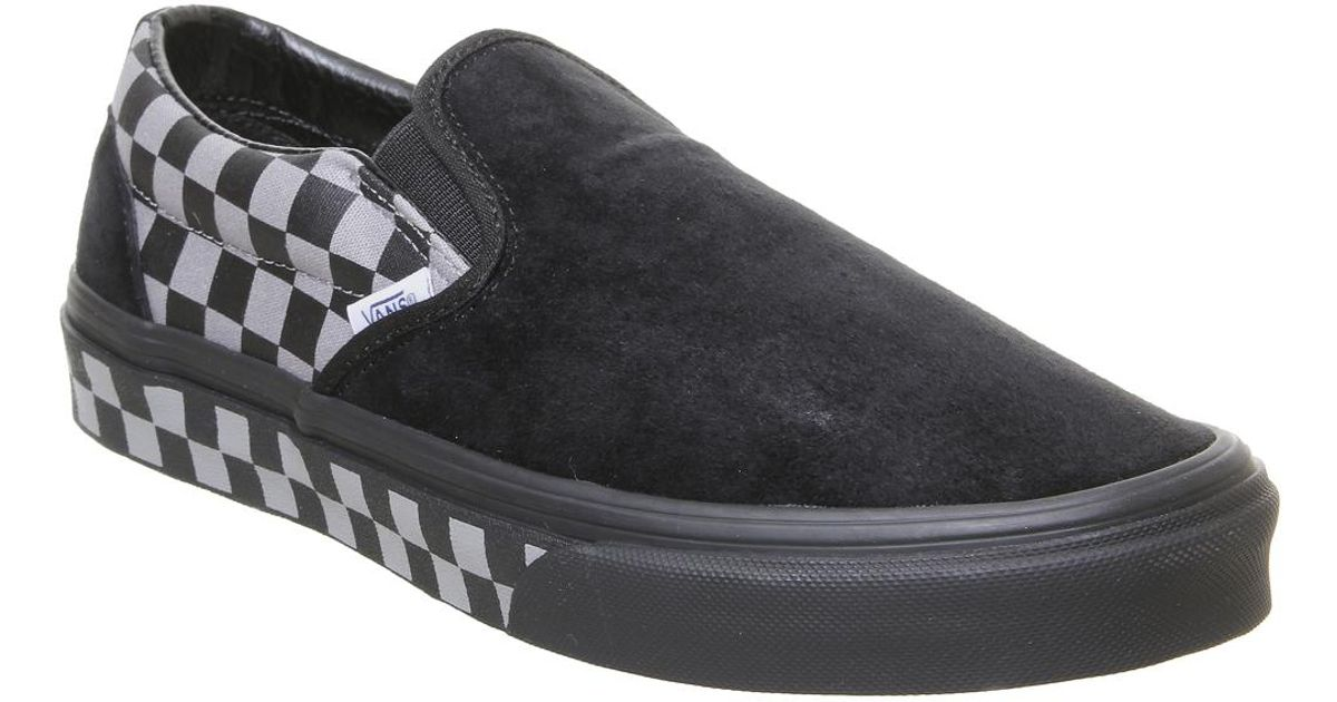 Lyst - Vans Classic Slip On Trainers in Black 5b657403d