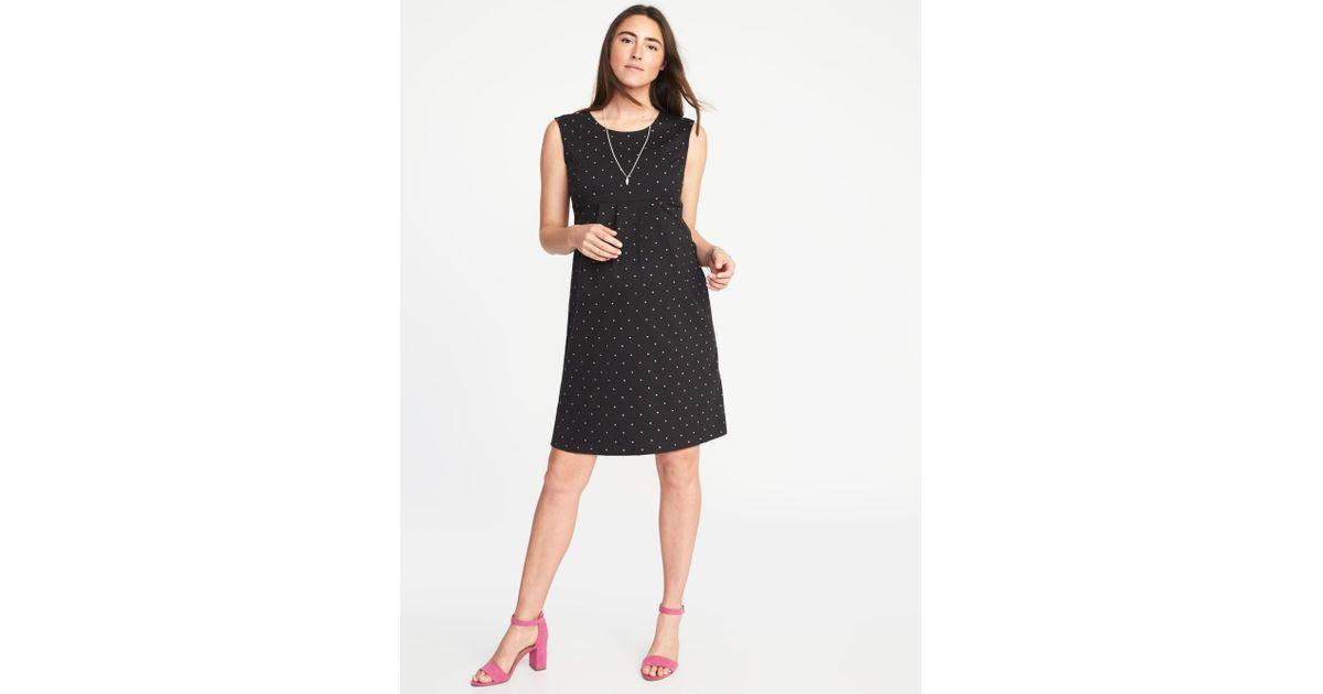 bef9b72fd790f Old Navy Maternity Sleeveless Ponte-knit Dress in Black - Lyst