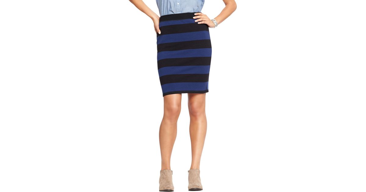 6b8fbc19b3 Old Navy Women's Printed-jersey Pencil Skirts in Blue - Lyst