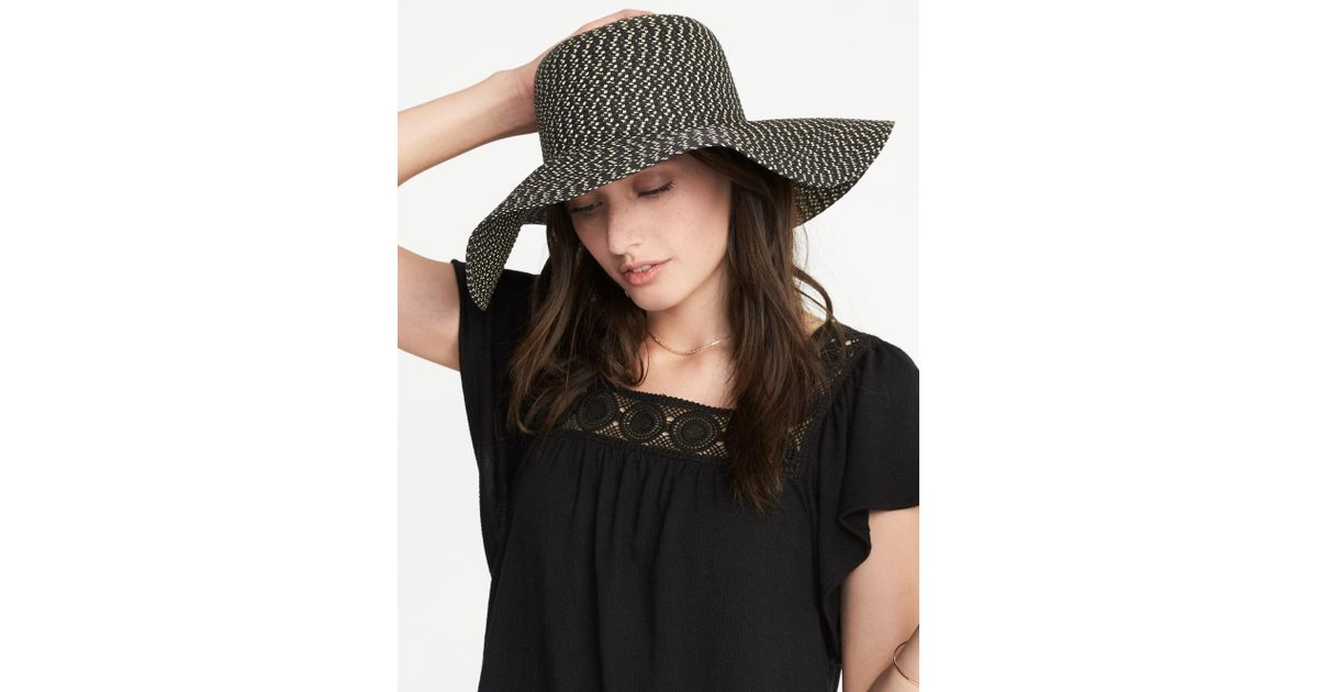 Lyst - Old Navy Floppy Straw Sun Hat in Black 2b3b2a0c64b9