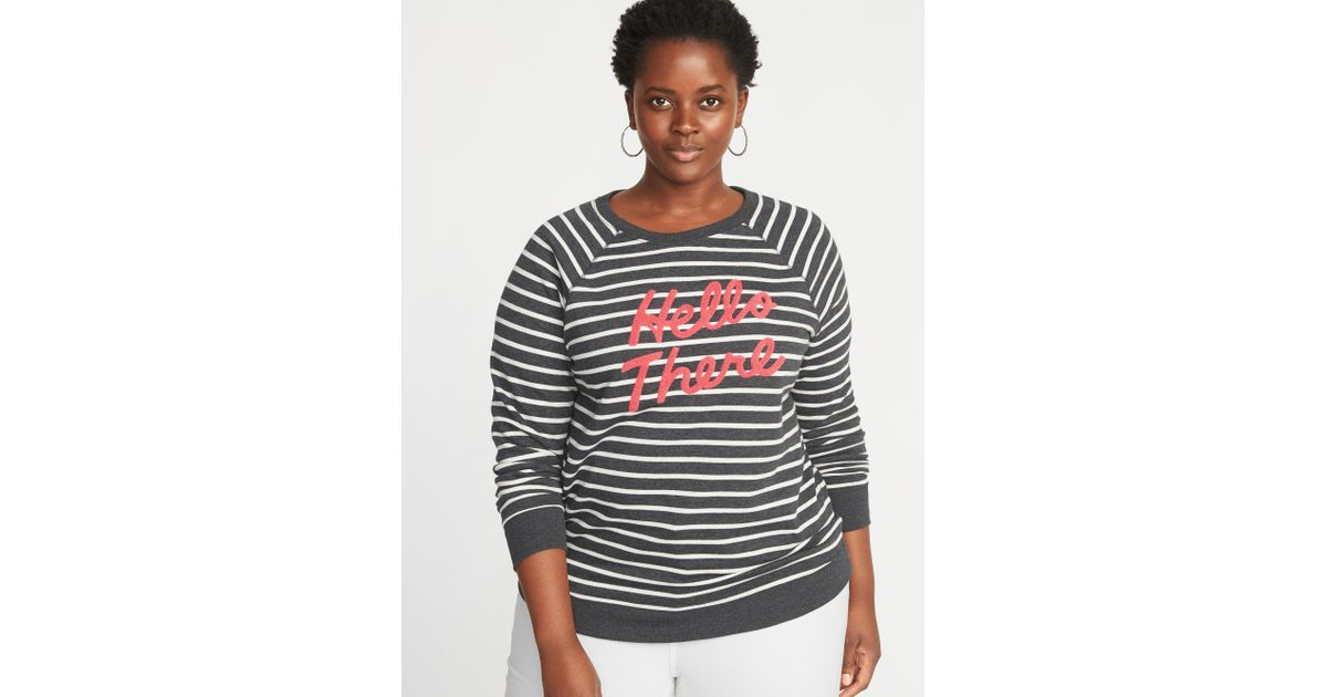 dabf4b40ef6 Lyst - Old Navy Relaxed Plus-size Graphic French-terry Sweatshirt in Gray