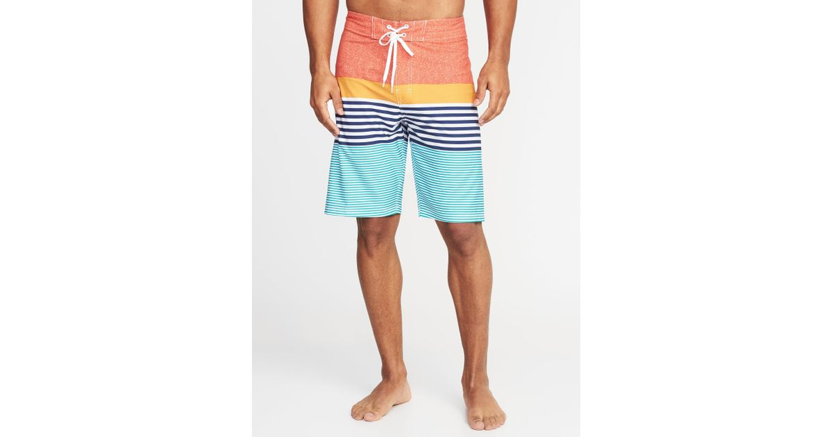 c1a34d9378 Lyst - Old Navy Built-in Flex Printed Board Shorts in Blue for Men