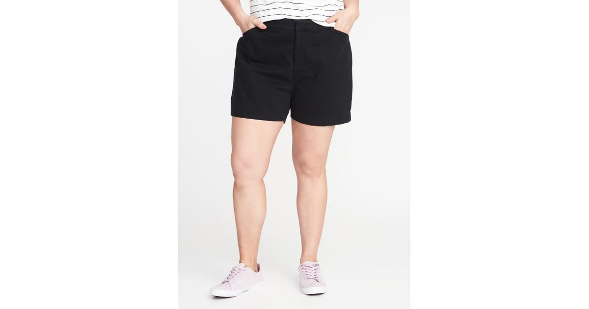 3186a15ea03 Lyst - Old Navy Mid-rise Secret-slim Pockets Plus-size Pixie Chino Shorts (7