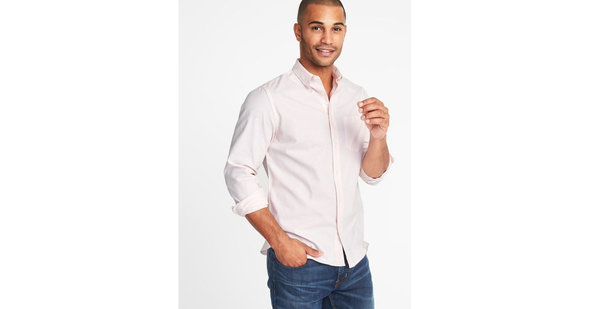 Lyst - Old Navy Slim-fit Built-in Flex Everyday Oxford Shirt for Men d13ab66db