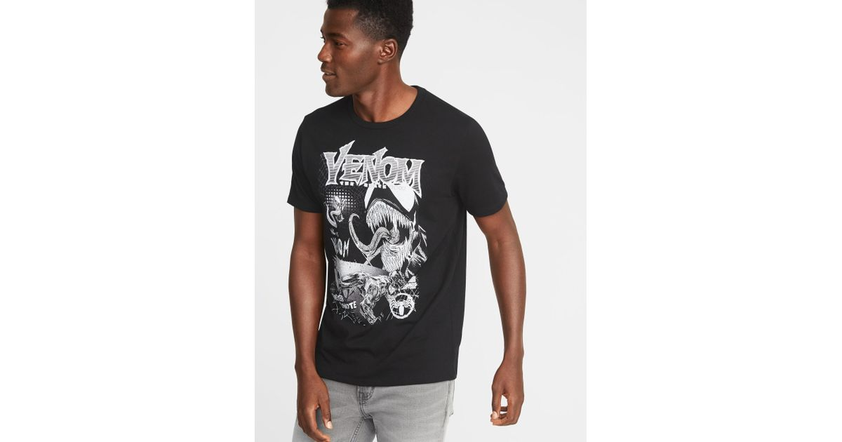 Lyst Old Navy Marvel Comicstm Venom Graphic Tee In Black For Men