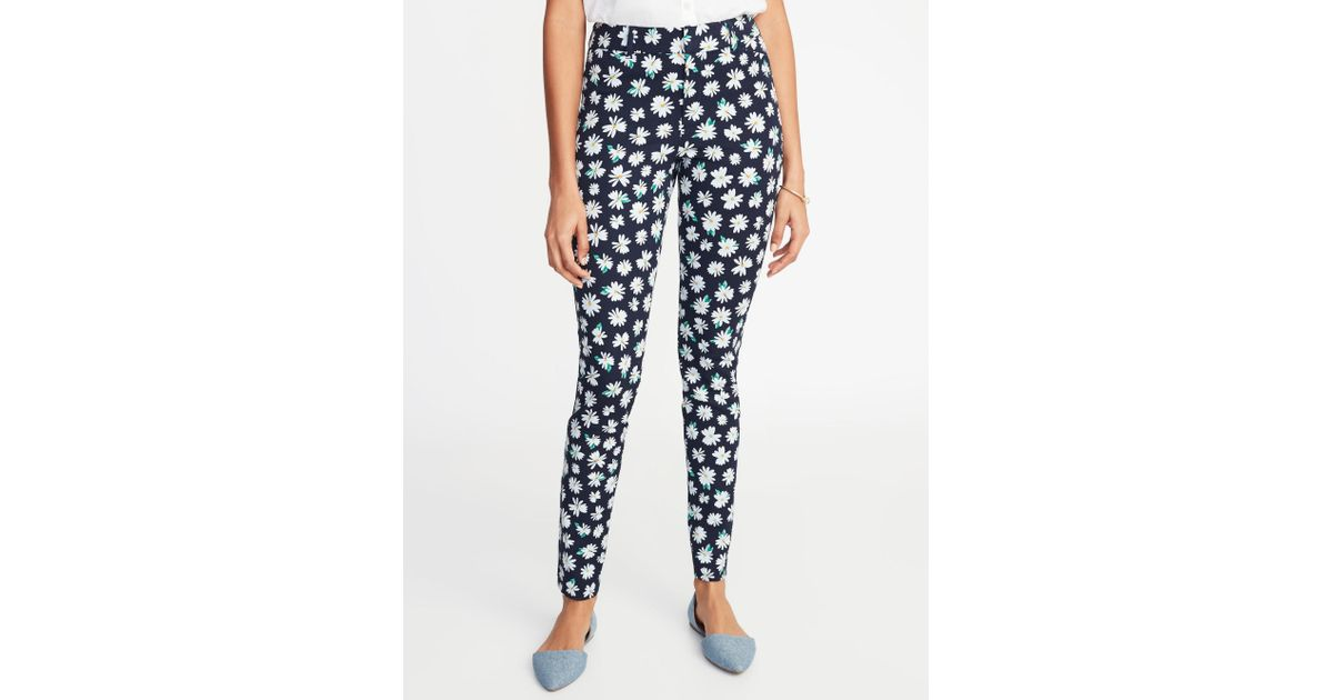 809df0c34b866b Old Navy Mid-rise Printed Pixie Ankle Pants in Blue - Save 4% - Lyst