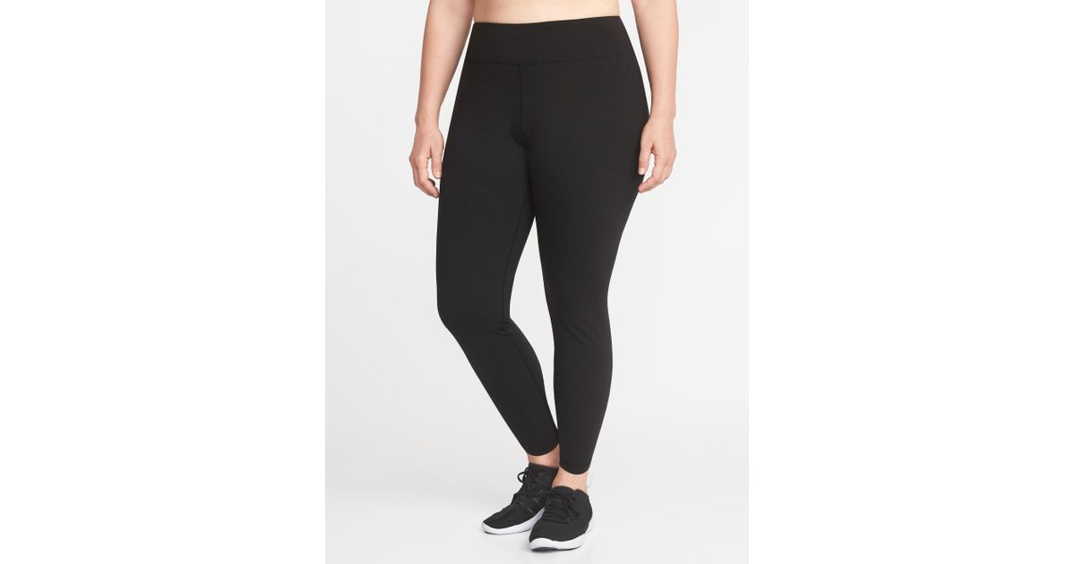 f88ce5a49fe7d7 Lyst - Old Navy High-rise Elevate Compression Plus-size Leggings in Black