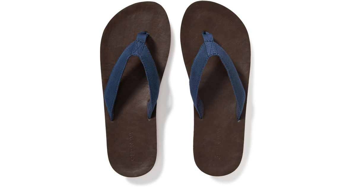 a3242e9ca Lyst - Old Navy Webbed-canvas Flip-flops in Blue for Men