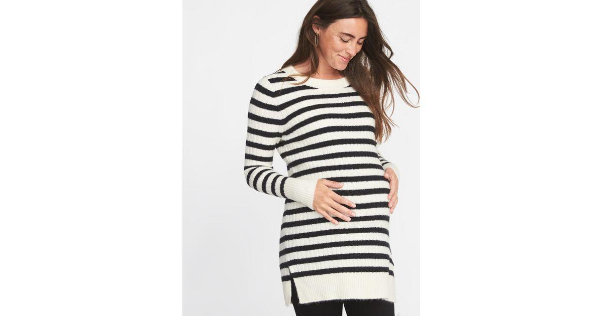 c6d457dba Lyst - Old Navy Maternity Plush Rib-knit Tunic Sweater in Blue