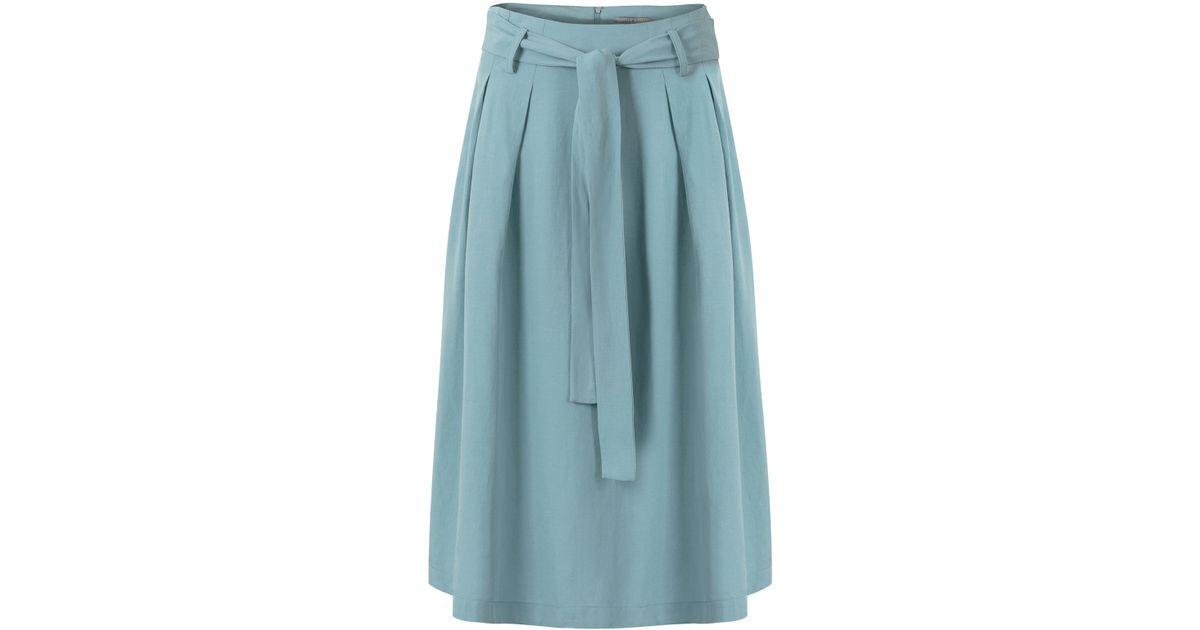 ac881012cc Oliver Bonas Living Midi Skirt in Green - Lyst