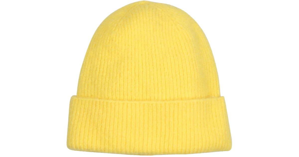 7f6023e2b26 Lyst - Oliver Bonas Acid Yellow Beanie Hat in Yellow
