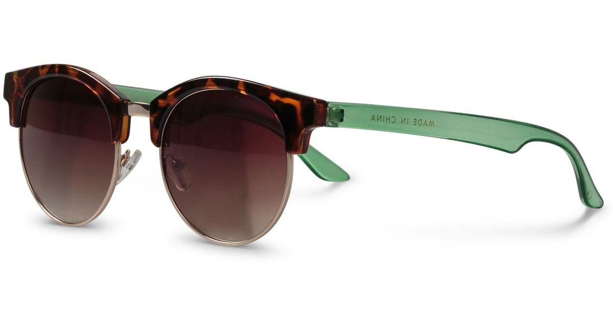 b8b9aa44c Oliver Bonas Round Clubmaster Tortoiseshell Sunglasses in Brown - Lyst