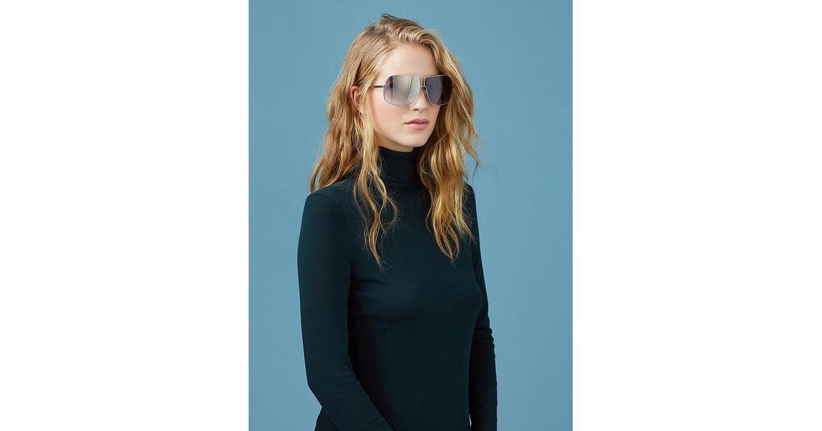 bbeb1730e2 Lyst - Diane von Furstenberg Lisa D-frame Sunglasses in Blue