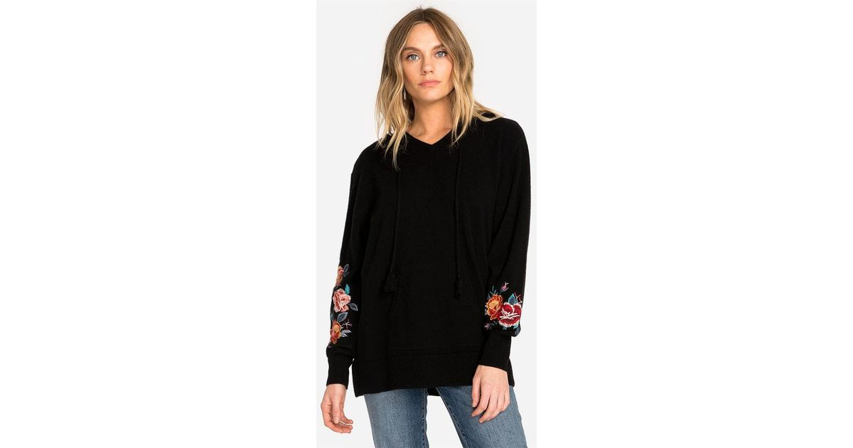 fd8520d3bbf Johnny Was Amira Cashmere Hoodie in Black - Lyst