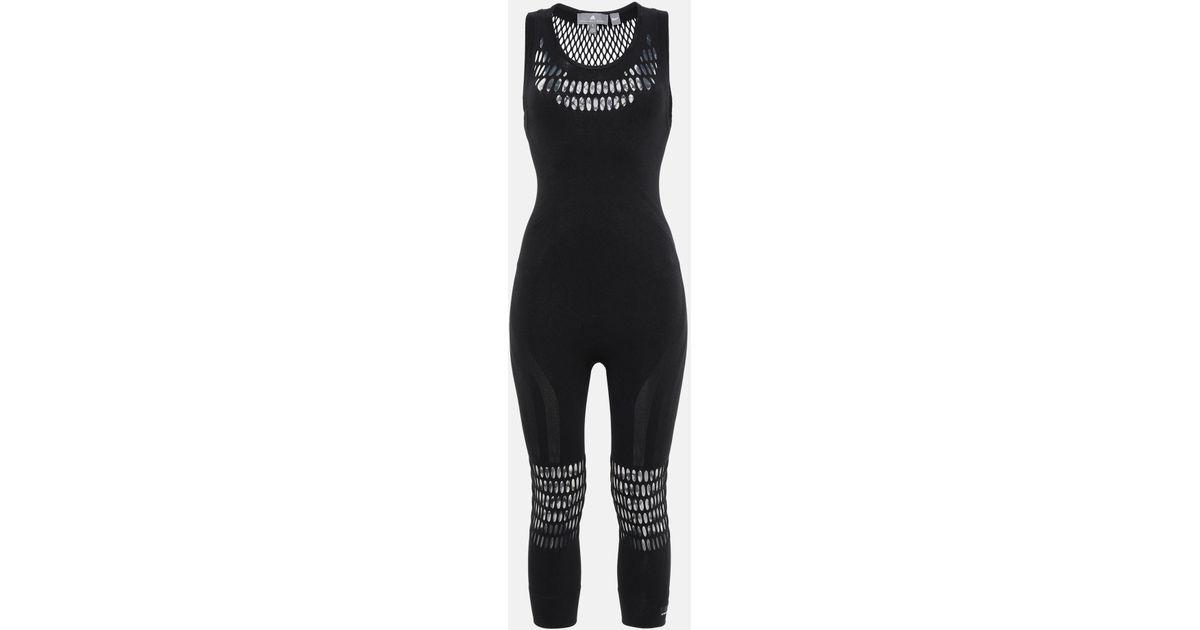df81e4e6b5382 adidas By Stella McCartney Black Yoga Jumpsuit in Black - Lyst