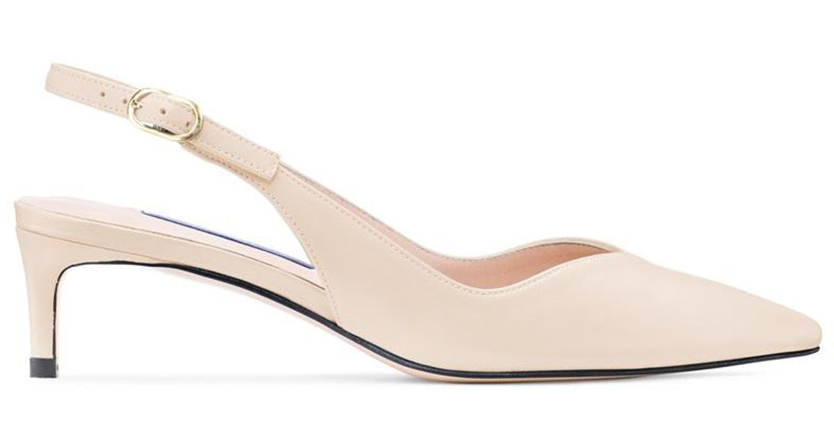 80b5606c381 Lyst - Stuart Weitzman The Edith Pump in Natural