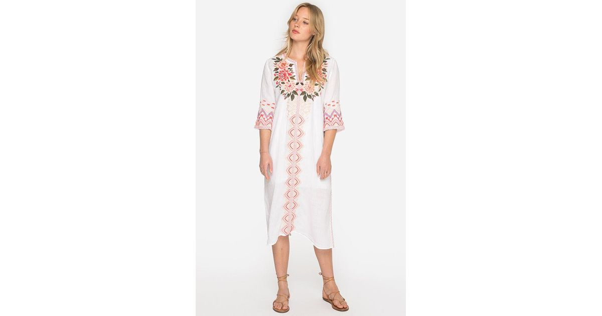 870e8e80b Lyst - Johnny Was Parnaz Long Kaftan in White